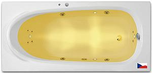 Arttec RHEY SURF CHROMO 190x80 - hydromasážna akrylátová vaňa