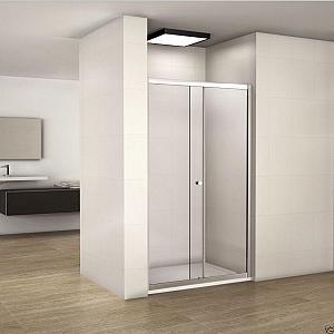 Besco - DUO SLIDE 110 - sprchové dvere 118-122 cm