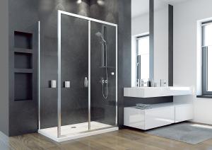 Besco DUO SLIDE - obdĺžnikový sprchový kút 140x90x195 cm