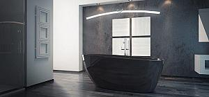 Besco GOYA Black - voľnestojaca vaňa 160x70 cm