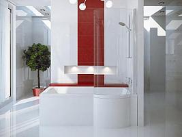 Besco INSPIRO 150 L - vaňa s vaňovou zástenou 150x70 cm