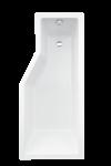 Besco INTEGRA 170 L - vaňa s dvojdielnou vaňovou zástenou 150x75 cm