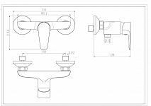 EISL CLAUDIO - sprchová batéria (NI168CALCR)