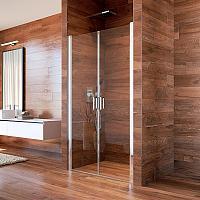 Mereo LIMA 90 - dvojkrídlové sprchové dvere 87-90 cm, point sklo