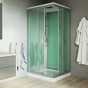 Mereo - sprchový box bez strechy - štvorcový 90x90 cm