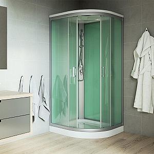 Mereo - sprchový box bez strechy - štvrťkruhový 90x90 cm