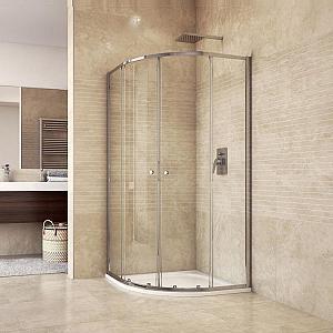 Mereo sprchový kút 90x90x185 s vaničkou z liateho mramoru