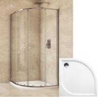 Mereo sprchový set 80x80x185 s vaničkou z liateho mramoru