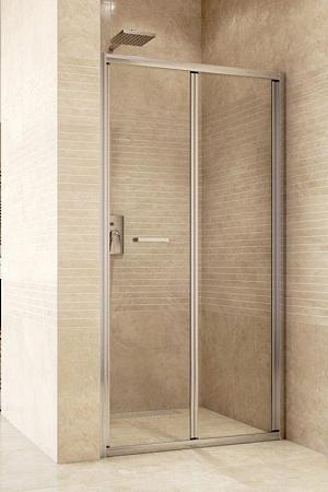 Mso Trade MISTICA 100 - zalamovacie sprchové dvere 97-100 cm, číre sklo