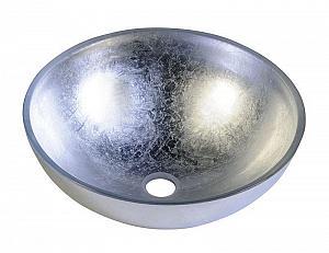 MURANO ARGENTO - sklenené umývadlo priemer 40x13cm