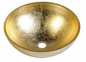 MURANO ORO - sklenené umývadlo priemer 40x13cm