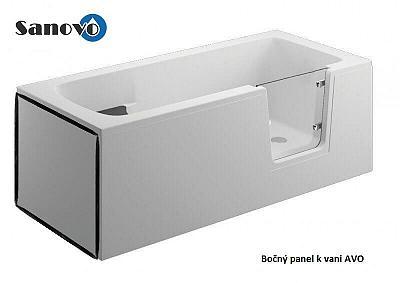Polimat AVO - bočný panel k bezbariérovej vani 75x58 cm (00891)