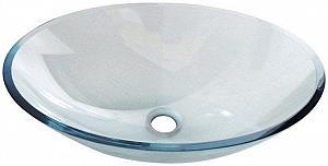 PURE - sklenené umývadlo oválne 52x37,5cm
