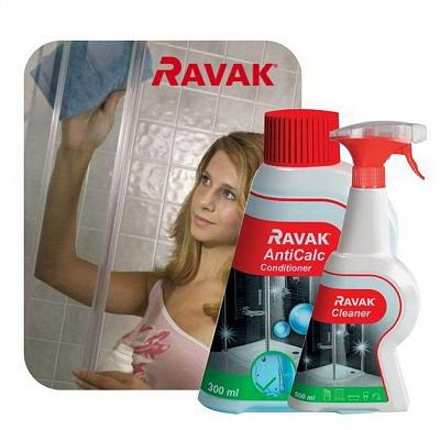 RAVAK Duo set Cleaner 500 ml + AntiCalc condiotioner 300 ml