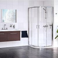 Sanovo Delivery ROUTE - štvrťkruhový sprchovací kút 90 - grape sklo