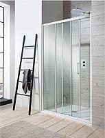 Sanovo LIMBA 80 - posuvné sprchové dvere trojdielne 78-80 cm - sklo point