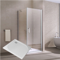 Sanovo PERFECT 90 - štvorcový sprchový kút s vaničkou 90x90x195 cm