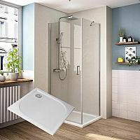Sanovo PERFECT 90 - štvorcový sprchový kút s vaničkou z LM 90x90x193 cm