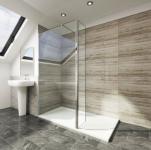 Sanovo SINGLE PLUS 120 - sprchová walk in zástena 120x30x195 cm