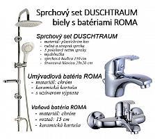 Sprchový set DUSCHTRAUM biely s batériami ROMA