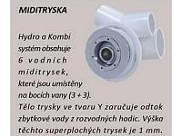 VERONELA 180x80 HYDRO pneu - hydromasážna vaňa